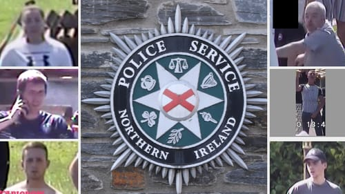 A number of police officers were injured while supporting contractors who removed bonfire material