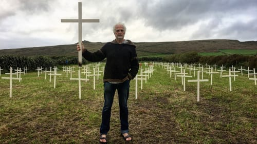 Breanndán Begley has erected 235 wooden crosses to symbolise the fall off in the local population
