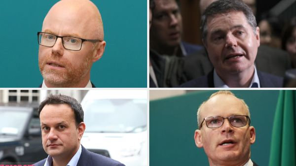Stephen Donnelly, Paschal Donohoe, Simon Coveney and Leo Varadkar (L-R clockwise)