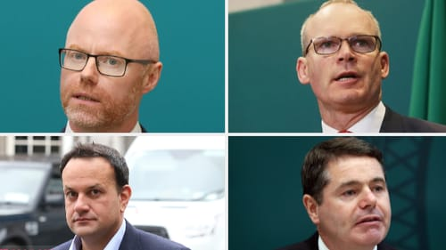 Stephen Donnelly, Simon Coveney, Paschal Donohoe and Leo Varadkar (L-R clockwise)