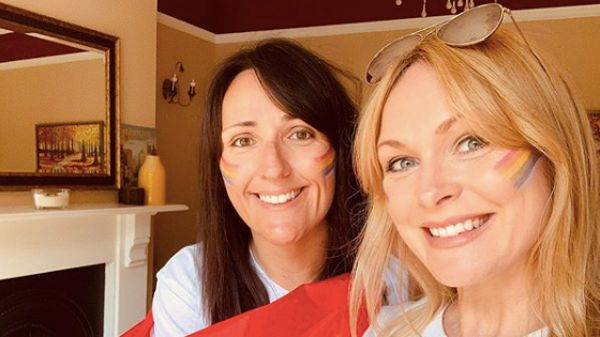 Kate Brooks and Michelle Hardwick have welcomed their first child together / Image: Instagram @missmichellehardwick