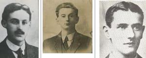Dick McKee, Peadar Clancy and Conor Clune
