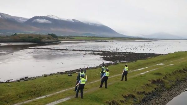 """""""We wanted to show our own culture and our own heritage and our own absolutely beautiful countryside"""" Screengrab: An Garda Síochána/Twitter"""