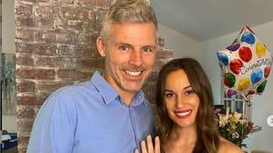 Des Bishop with fiancée Hannah Berner / Image: Instagram @beingbernz