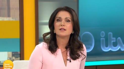 Susanna Reid addressing Piers Morgan's departure on Wednesday's Good Morning Britain Screengrab: ITV