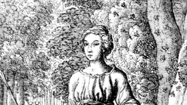 Hibernia, as depicted in the 17th century.