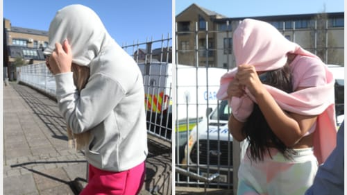 The women were charged with breaching the Health Act (Pics: RollingNews.ie)