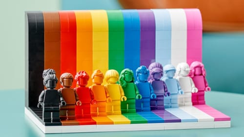 The set will go on sale on 1 June, coinciding with the start of Pride Month, and will be available across digital and retail stores Photo credit: Lego