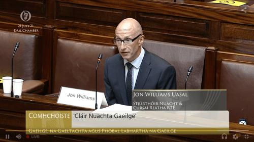 Jon Williams, Stiúrthóir Bainistíochta Nuacht agus Cúrsaí Reatha RTÉ