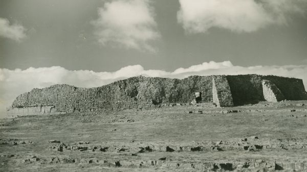 Dún Aonghasa on Inis Mór. Photo: Etienne Rynne Archive, Hardiman Library, NUI Galway