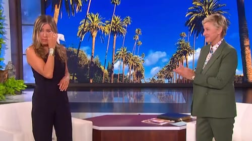Jennifer Aniston and Ellen DeGeneres on Tuesday's show Screengrab: Ellen DeGeneres Show/Twitter