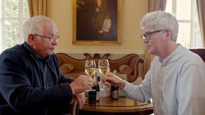Tony Laithwaite and Frank Mannion raise a glass at Windsor Great Park